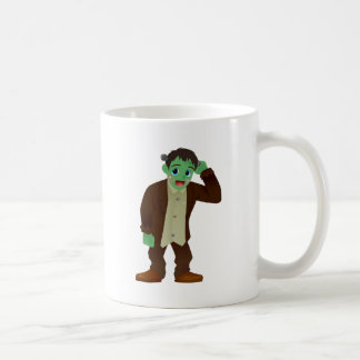 Blushing Frankenstein's Monster Scratching Head Classic White Coffee Mug