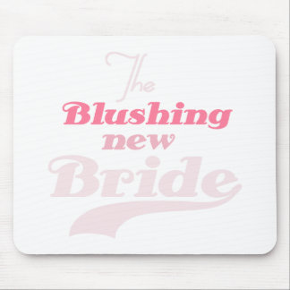 Blushing New Bride T-shirts and Gifts Mousepads
