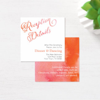 Blushing Peach Watercolor Reception Cards (100 ct)