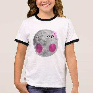 Blushing Pink Moon Ringer T-Shirt