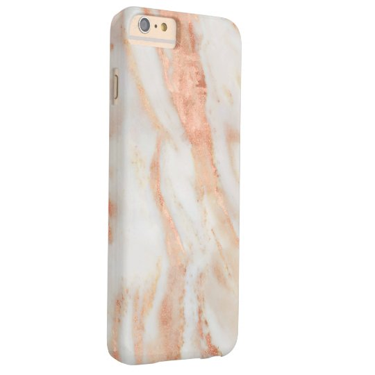 Blushing Rose Feminine Marble Pattern Barely There iPhone