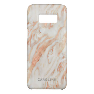 Blushing Rose Marble Pattern with Name Case-Mate Samsung Galaxy S8 Case