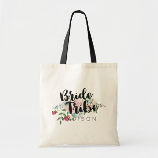 Blushing Rose Watercolor Wedding Bride Tribe Tote Bag