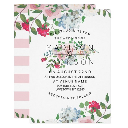 Blushing Rose Watercolor Wedding Invitations