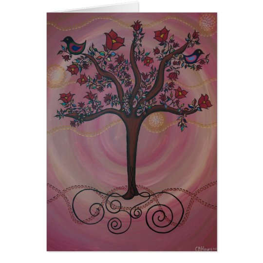 """Blushing Tree of Life"" by CatherineHayesArt Card"