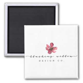 Blushing Willow Design Co. Magnet, White Square Magnet