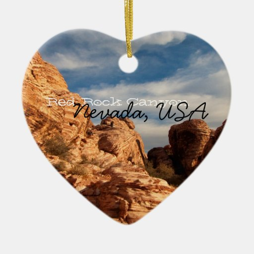 BLUSK Blue Sky Meets Red Rock Ceramic Heart Decoration