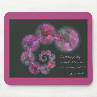 Blustery Day Spring Haiga Poem Mouse Pads