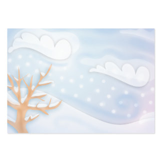 blustery winter day business cards