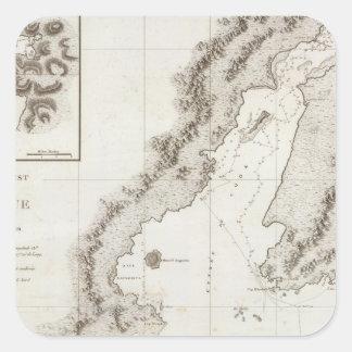 Blying Sound to Alaska Peninsula Square Sticker