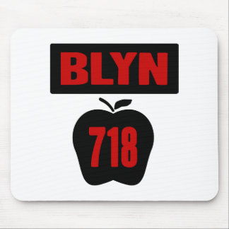 BLYN 718 Inside of Big Apple With Banner 2 Color Mouse Pad