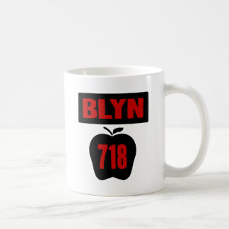 BLYN 718 Inside of Big Apple With Banner, 2 Color Classic White Coffee Mug