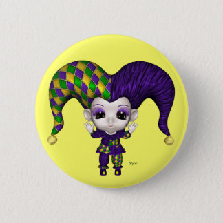 Blythe's World Mardi Gras - Button