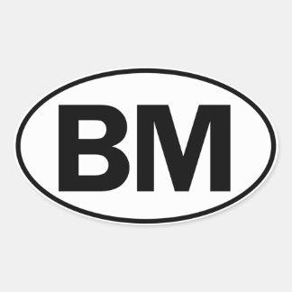 BM Oval ID Oval Sticker