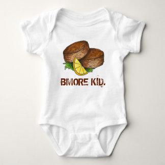 BMORE KID Baltimore Maryland Crab Cake Crabcake Baby Bodysuit