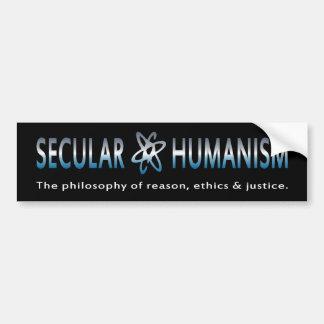 BMP Philosophy of Secular Humanism Car Bumper Sticker