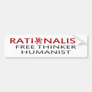 BMP Rationalist Free Thinker Humanist Bumper Stickers