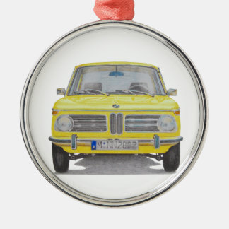 BMW 2002 Silver-Colored ROUND DECORATION