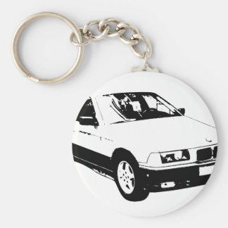 bmw-318 basic round button key ring