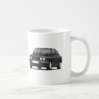 BMW 3 series, E30, illustration, black Coffee Mug