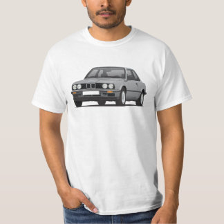 BMW E30 (3-series) illustration, gray Tees