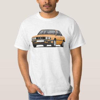 BMW E30 (3-series), illustration, orange T Shirt