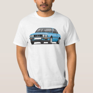 BMW E30 (3-series), met.blue illustration, t-shirt