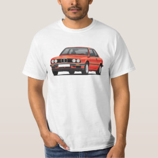 BMW E30 (3-series), metallic red, illustration Shirts