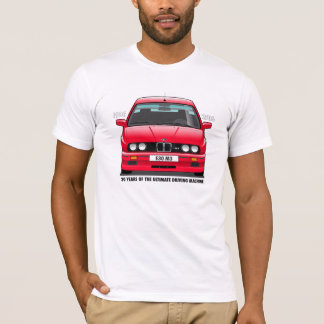 BMW E30 M3 30th Anniversary (Red) Black Type T-Shirt