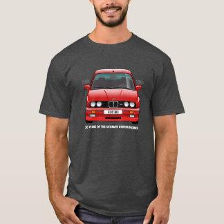 BMW E30 M3 30th Anniversary (Red) White Type T-Shirt