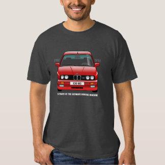 BMW E30 M3 30th Anniversary (Red) White Type T-shirts