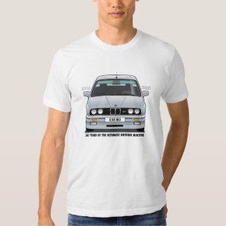 BMW E30 M3 30th Anniversary (Silver) Black Type Tshirts