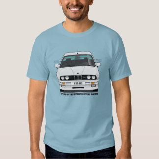 BMW E30 M3 30th Anniversary (White) Black Type Shirts