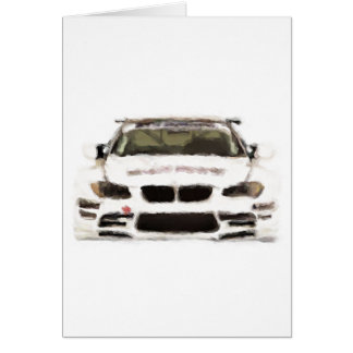 BMW M3 Racing Car Hand Painted Art Brush Template Greeting Card