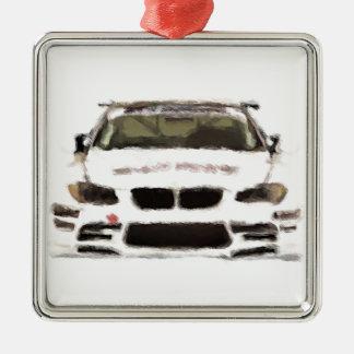 BMW M3 Racing Car Hand Painted Art Brush Template Christmas Ornament