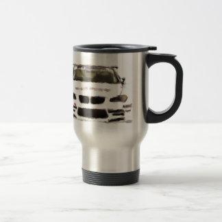 BMW M3 Racing Car Hand Painted Art Brush Template Coffee Mug