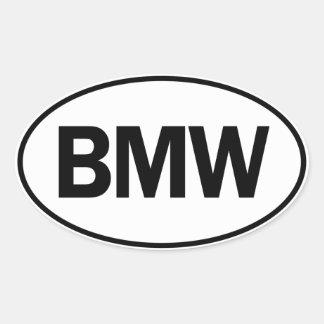 BMW Oval ID Oval Sticker