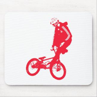 BMX 3 Transparent RED Mouse Pad