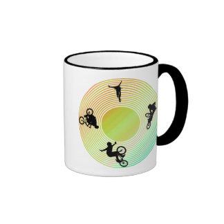 BMX Abstract Ringer Coffee Mug