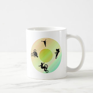BMX Abstract Classic White Coffee Mug