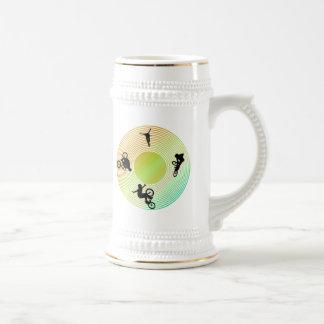 BMX Abstract Mugs