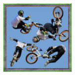 BMX  Art , Copyright Karen J Williams Poster