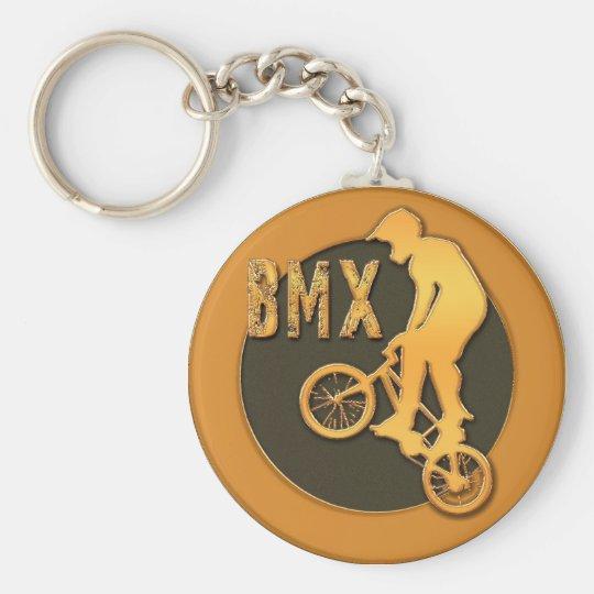 BMX BASIC ROUND BUTTON KEY RING