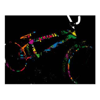 BMX Bike Art Postcard