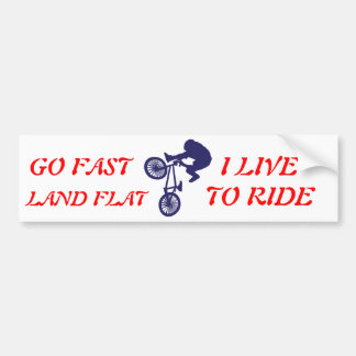 BMX BIKE RIDER BUMPER STICKER