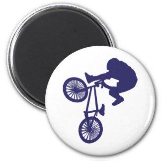 BMX BIKE RIDER 6 CM ROUND MAGNET