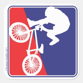 BMX Bike rider Round Stickers