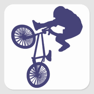 BMX Bike Rider Square Sticker