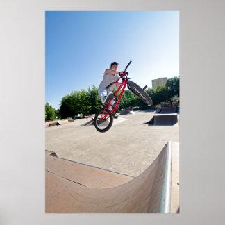BMX Bike Stunt bar spin Print