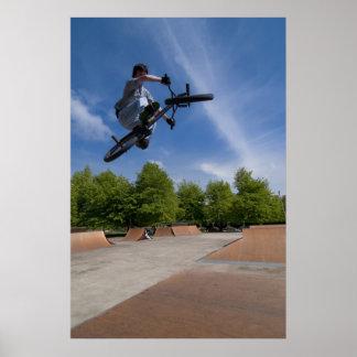 BMX Bike Stunt Table Top Print